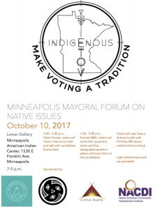 Mayoral Forum on Native Issues - Minneapolis @ Lower Gallery