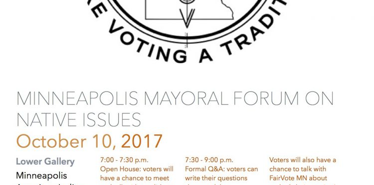 Mayoral Forum on Native Issues – Minneapolis