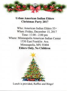 Urban American Indian Elders Christmas Party @ Gym