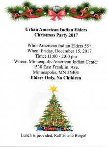 Urban American Indian Elders Christmas Party @ Gym