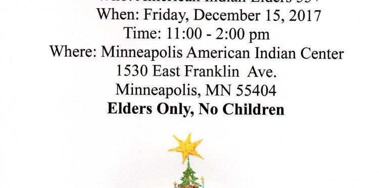 Urban American Indian Elders Christmas Party