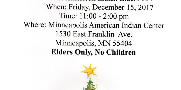 Urban American Indian Elders Christmas Party